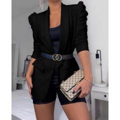 Γυναικείο κομψό σακάκι 3969 μαύρο
