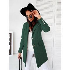 Γυναικείο κομψό παλτό 8690 πράσινο
