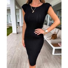 Γυναικείο εφαρμοστό φόρεμα 4481 μαύρο