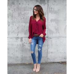 Γυναικείο πουκάμισο 3532 μπορντό