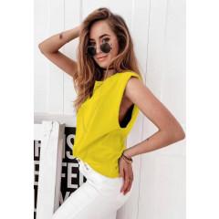 Γυναικείο αμάνικο μπλουζάκι 71521 κίτιρνο