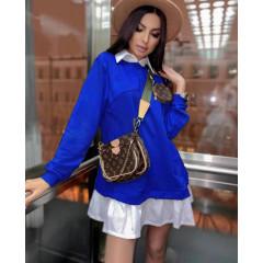 Γυναικείο μπλουζοφόρεμα 5462 μπλε