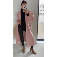 Παλτό χωρίς φόδρα 20911 ροζ