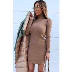 Γυναικείο φόρεμα ζιβάγκο 3466 μπεζ