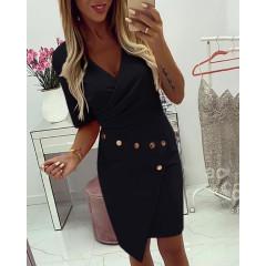 Γυναικείο φόρεμα με τρουξ 3988 μαύρο