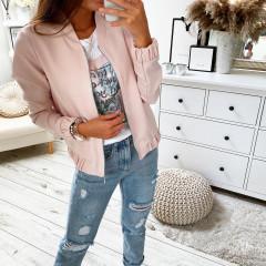 Γυναικείο μπουφάν με λάστιχο 3088 ροζ
