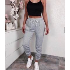 Γυναικείο αθλητικό παντελόνι με κορδόνια 4030 γκρι