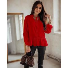 Γυναικείο εντυπωσιακό πουκάμισο 5486 κόκκινο