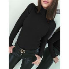 Γυναικεία μπλούζα ζιβάγκο 81026 μαύρη