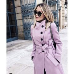 Γυναικείο παλτό 5081 ροζ