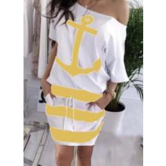 Γυναικείο φόρεμα 3543 κίτρινο