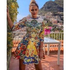 Γυναικείο φόρεμα με εντυπωσιακό print 21172