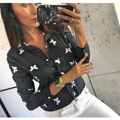 Γυναικείο πουκάμισο 7045 μαύρο