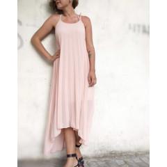 Γυναικείο φόρεμα σολέϊ 5127 ροζ