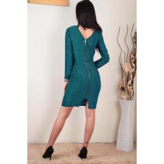 Γυναικείο φόρεμα με φερμουάρ 3874 πράσινο