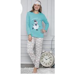 Γυναικεία πιτζάμα 3τμχ. SD16 τυρκουάζ
