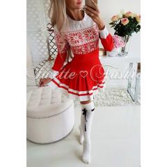 Γυναικείο φόρεμα 7068 κόκκινο
