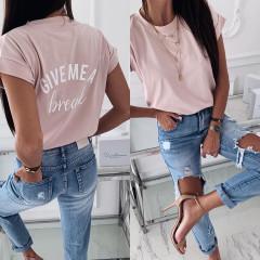 Γυναικείο κοντομάνικο μπλουζάκι  3293 ροζ