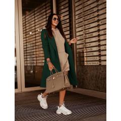 Γυναικείο παλτό με κουμπιά από τις δυο πλευρές 5356 πράσινο