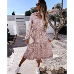 Γυναικείο φόρεμα φλοράλ ντεσέν 21094