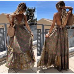 Γυναικείο μακρύ φόρεμα με σχέδια 500301