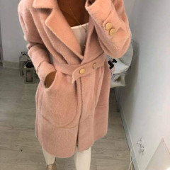 Γυναικείο παλτό 3855 ροζ