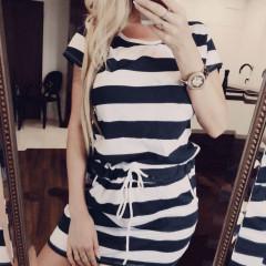 Γυναικείο θαλασσινό φόρεμα 12299 μαύρο