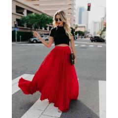 Γυναικεία φούστα 3611 κόκκινη