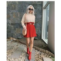 Γυναικεία φούστα 3397 κόκκινο