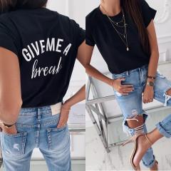 Γυναικείο κοντομάνικο μπλουζάκι  3293 μαύρο
