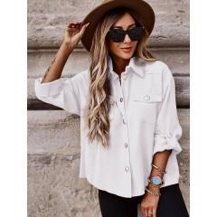 Γυναικείο χαλαρό πουκάμισο 5510 άσπρο