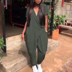 Γυναικεία ολόσωμη φόρμα 7566 σκούρο πράσινο
