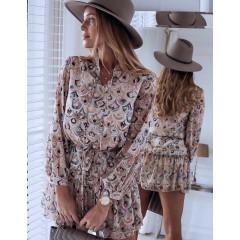 Γυναικείο φόρεμα με animal print φίδι 3575