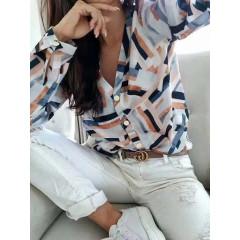 Γυναικείο πουκάμισο 3723 μπλε/ροζ