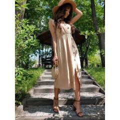 Γυναικείο φόρεμα 3077 μπεζ