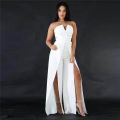 Γυναικεία ολόσωμη φόρμα 9496 λευκό