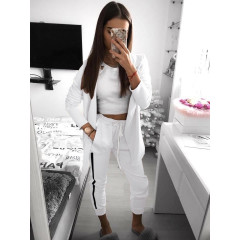 Γυναικείο σετ σακάκι και παντελόνι 3972 άσπρο