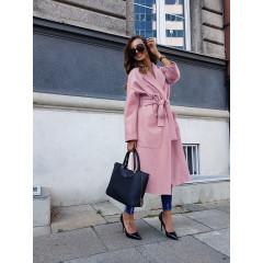 Γυναικείο παλτό με φόδρα 5325 ροζ