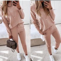 Σετ μπλούζα και παντελόνι 19776 ροζ