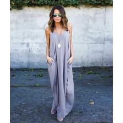Γυναικείο φόρεμα 3569 γκρι