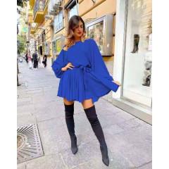 Γυναικείο χαλαρό φόρεμα 3469 μπλε