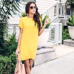 Γυναικείο φόρεμα 12204 κίτρινο