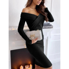 Εντυπωσιακό φόρεμα 5450 μαύρο