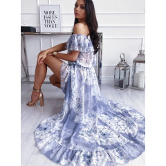 Γυναικείο φόρεμα 9380 μπλε
