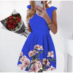 Γυναικείο φόρεμα με φλοράλ print 2699 μπλε
