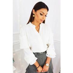 Γυναικεία μπλούζα με εντυπωσιακό μανίκι 3959 άσπρη