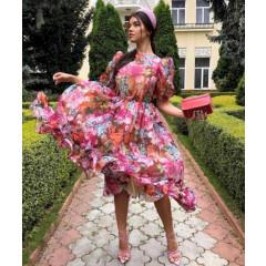 Γυναικεία κλος φόρεμα με φλοράλ ντεσέν 2118202