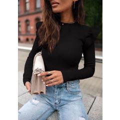 Εντυπωσιακή εφαρμοστή μπλούζα 5400 μαύρη