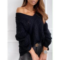 Γυναικείο πουλόβερ 8112 μαύρο
