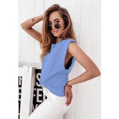 Γυναικείο αμάνικο μπλουζάκι 71521  γαλάζιο